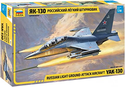 Soviet Light Fround-Attack Aircraft YAK-130 Plastic Model Kit Scale 1//48 Lenght 9.5// 24.5 cm 340 Parts Zvezda 4821