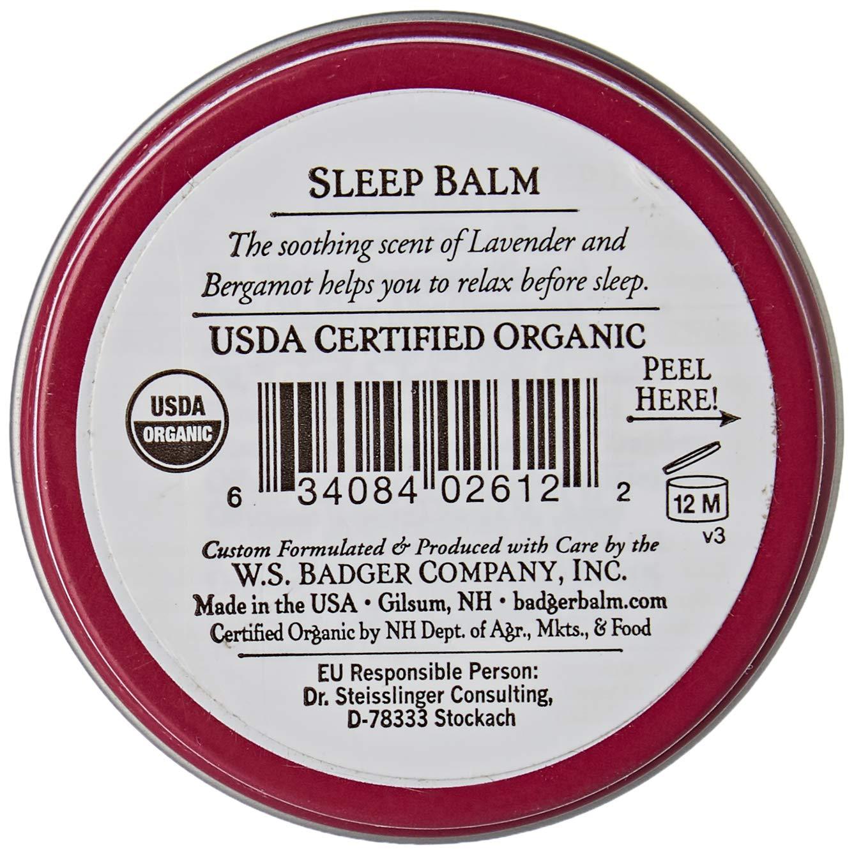 Badger - Bálsamo para dormir, bálsamo de noche. Envase de 21 g.: Amazon.es: Salud y cuidado personal