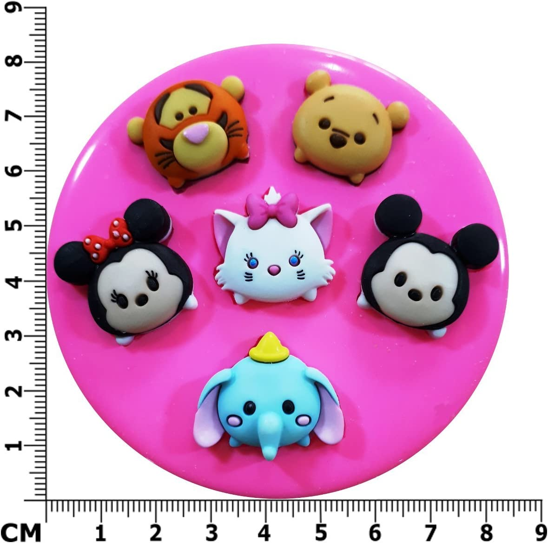 Tsum Tsum Mickey Minnie Winnie the Pooh Tigger de Dumbo molde de ...