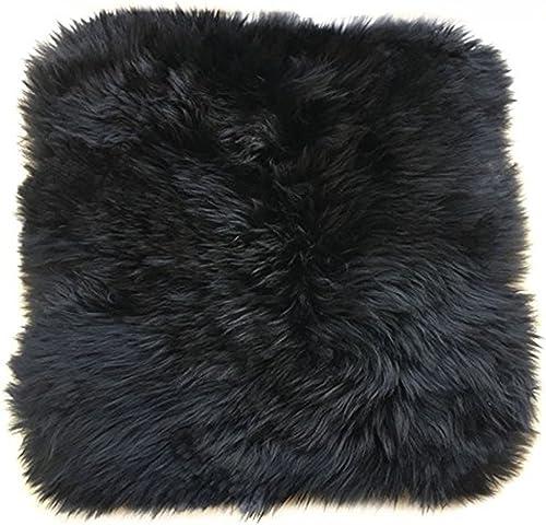 USTIDE Luxury Fluffy Sheepskin Rug Single Pelt – 2ft x 3ft Sheepskin Wool Rug for Bedroom Black