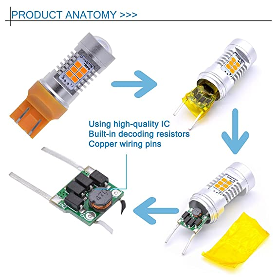Erneuerbare Energie Photovoltaik-zubehör Beautiful 2x T20 7440 7443 Led Error Canceller Canbus Load Resistor Hyper Flash Decoder Rr