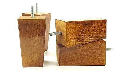 Gambe mobili piedi di ricambio in legno massello mm