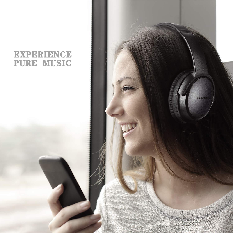 LinkWitz Auriculares Bluetooth Plegables - Auriculares inalámbricos con estéreo Hi-Fi, Micro Integrado para iPhone, Samsung, Teléfono y tablets Android, ...