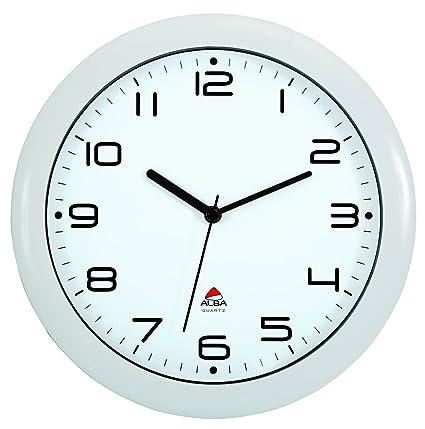 Amazon.com: Alba 12-Inch Silent Wall Clock, White Frame (HORNEW BC ...