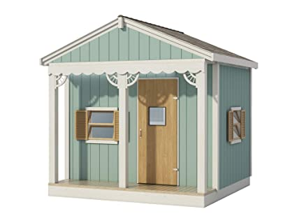 Kids Playhouse Plans Diy Micro Cottage Guest House Backyard Storage