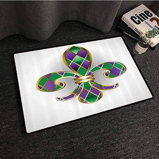 Homrkey Fleur De lis Decor Collection - Felpudo con diseño de ...