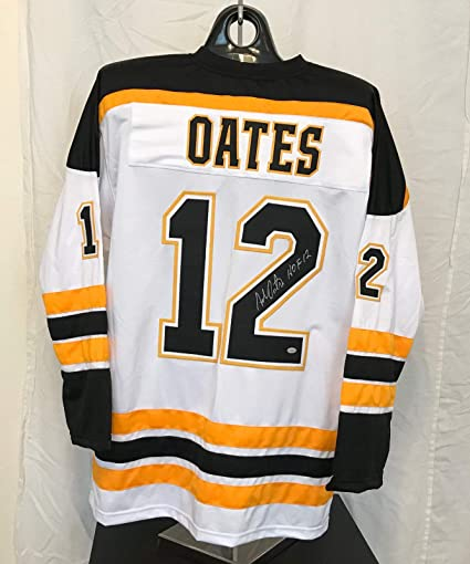 wholesale dealer 1fbe3 78317 Adam Oates Autographed White Jersey - Boston Bruins Hall of ...
