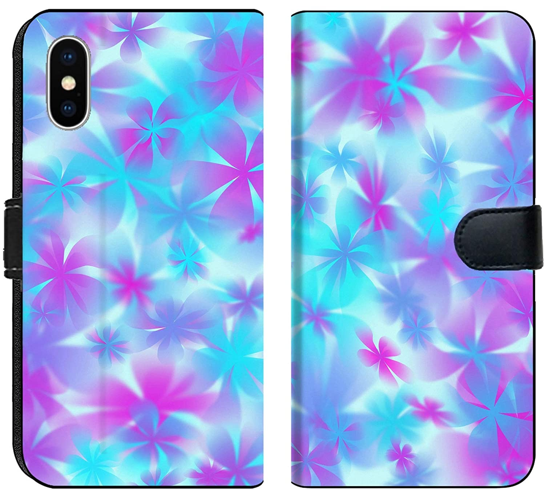 Amazon Com Luxlady Iphone X Flip Fabric Wallet Case Flower