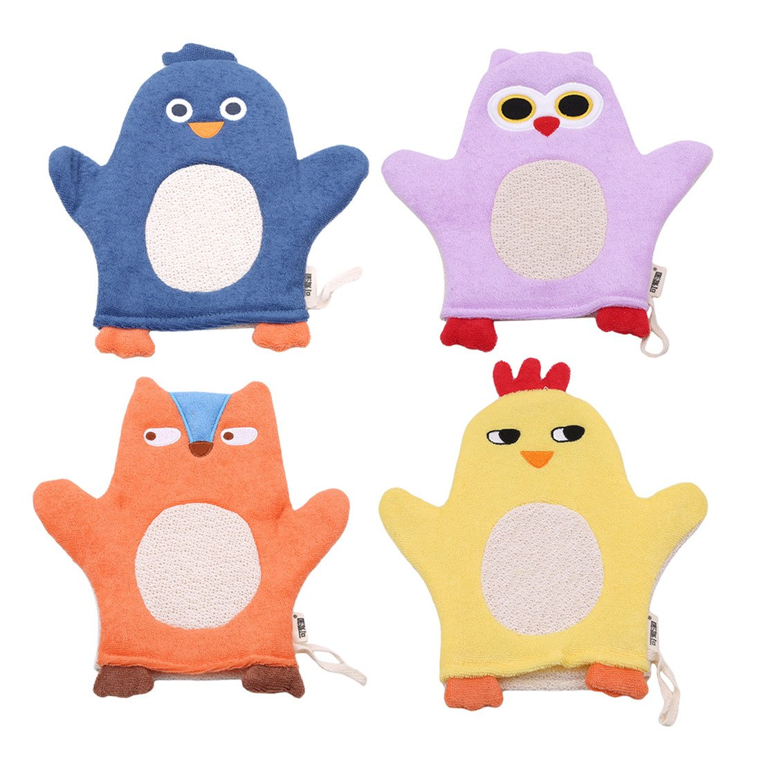 Yesiidor Animal Bath Glove Puppet Style Wash Mitts For Toddler Soft Baby Bath Gloves Baby Bath Towel