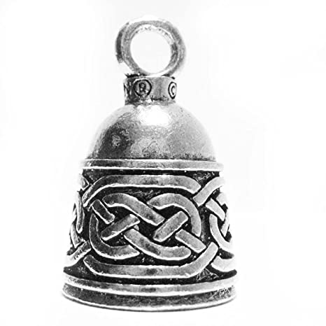 Guardian Bell Irish Celtic Weave Motorcycle Biker Luck Gremlin Riding Bell or Key Ring