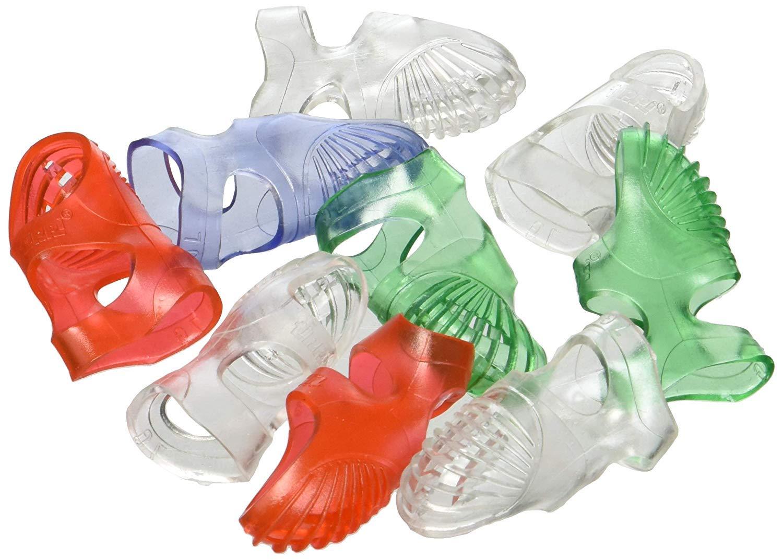 Lee Tippi Micro-Gel Fingertip Grips, Size 7, Medium, Assorted Colors, Pack of 10, Case of 5