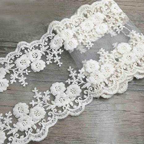 2 Meters Stretch Lace Ribbon Wide french African Lace Fabric Lace Trimmings