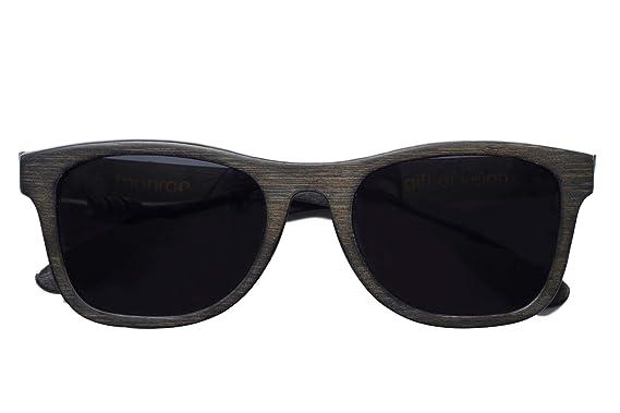 c261146a7ac Amazon.com  Monroe Bamboo Sunglasses (Black)  Clothing
