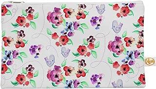 Kess InHouse 12,5x 21,6cm Zara Martina Mansen'Fleurs de printemps et oiseaux' Tout ce Sac–Blanc/rouge
