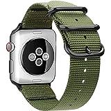 AIGENIU コンパチブル Apple Watch バンド、防水性と耐久性のある編みナイロン バンド Compatible forアップルウォッチ バンド 38mm 40mm iwatch Serise 5/4/3/2/1に対応 (38mm/40mm, アーミーグリーン)