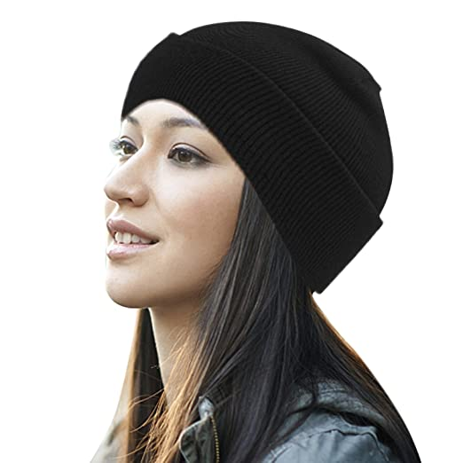 921c56a25be Image Unavailable. Image not available for. Color  DTBG Knitted Beanie for  Men   Women Daily Stylish Winter Hat Warm Slouchy Cuff Soft Thick