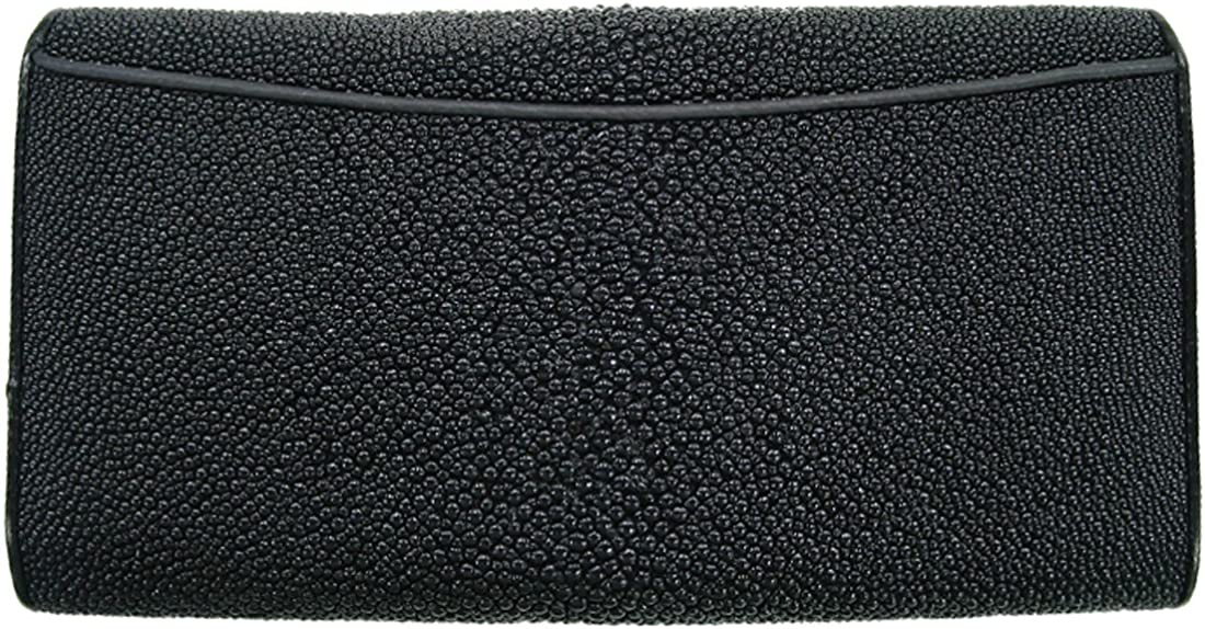 Men/'s Wallets Stingray Wallets Vertical Skin Leather Black Pearl Genuine