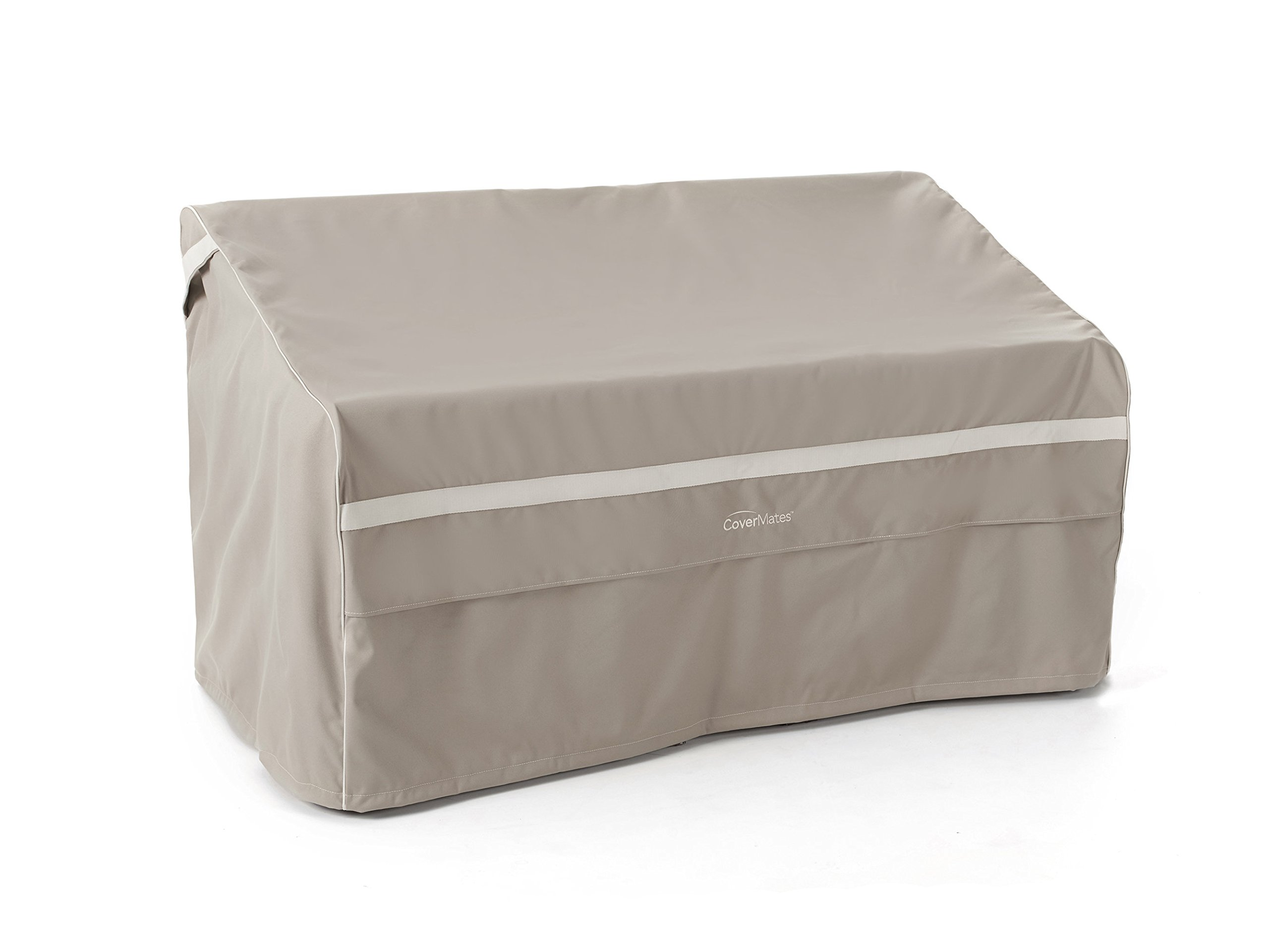 CoverMates – Outdoor Patio Bench Cover – 62W x 32D x 34H – Prestige Collection – 7 YR Warranty – Year Around Protection - Clay