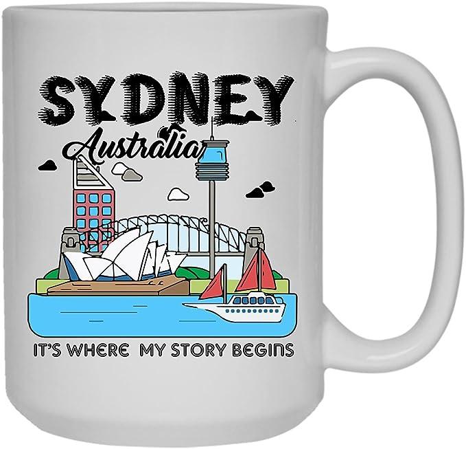 Amazon Com Cool Sydney Australia Mug Coffee Mug Design 15 Oz Kitchen Dining