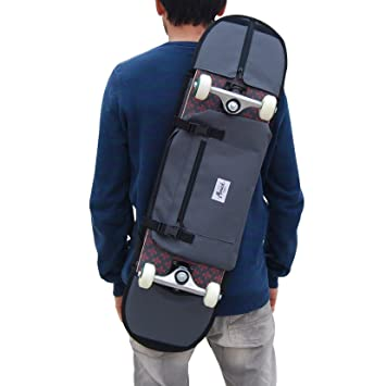 Mochila Porta monopatín y Bandolera Skateboard - Accesorio para Regalar a niño Skater o Adolescente, Color Gris: Amazon.es: Deportes y aire libre