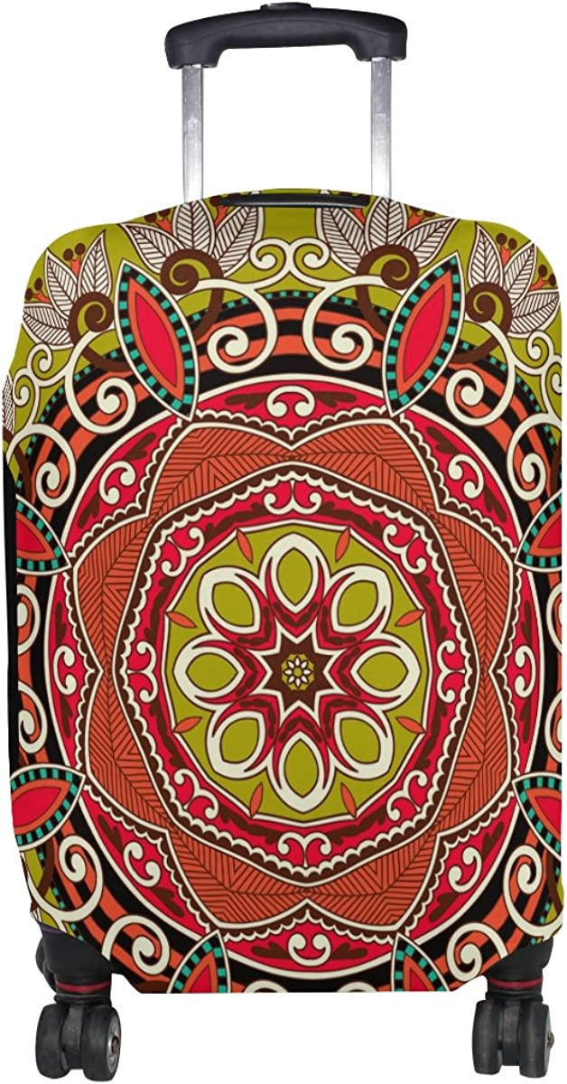LAVOVO Circle Ornamental Round Lace Luggage Cover Suitcase Protector Carry On Covers