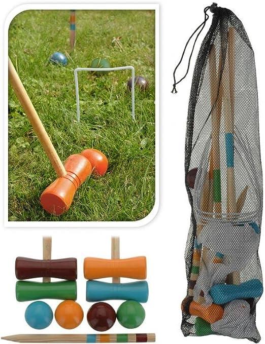 AC-Déco Juego de croquet para niños – Madera – Juegos de exterior: Amazon.es: Jardín