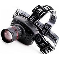 Nuevo 160 LM LED Headlamp Multifuncion- Lampara de Cabeza para Ciclismo, Pesca, Senderismo, Campismo 3-Mode Zoomable Outdoor Headlight