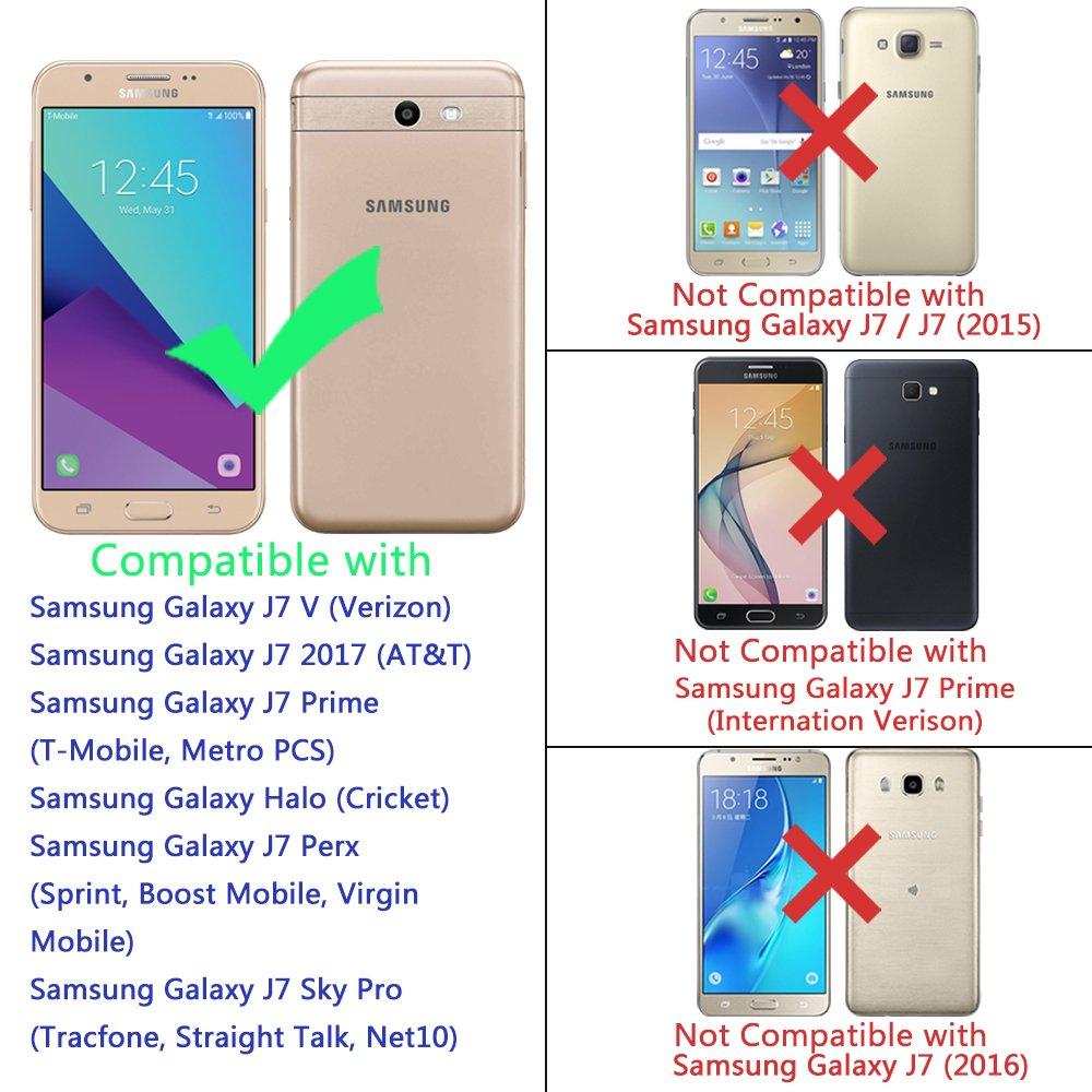 For Samsung Galaxy J7 V 2017 Prime Perx Sky Pro Halo Case Lk Ultra Slim Thin Tpu Rubber Soft Skin Silicone Protective
