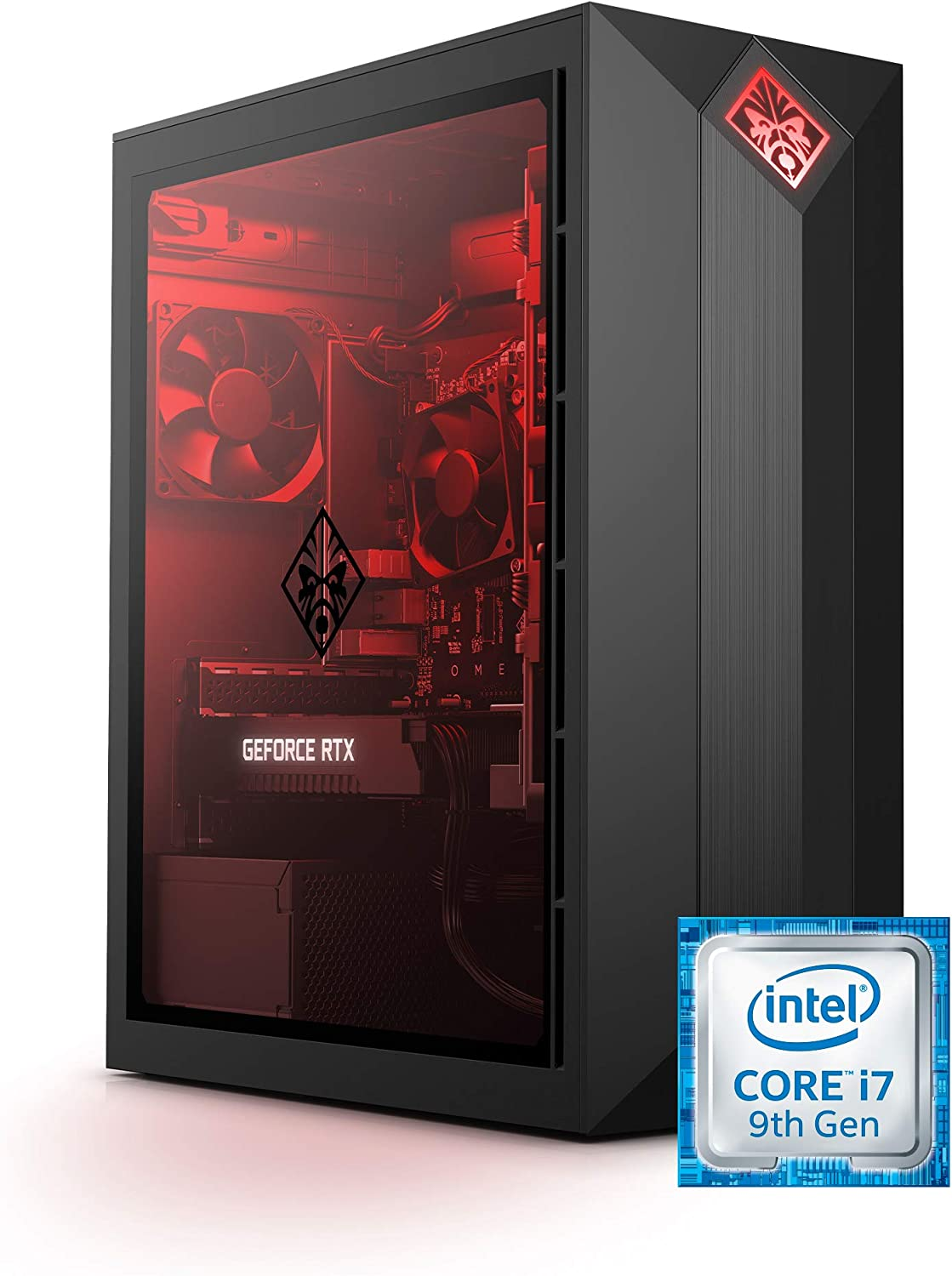 Omen by HP Obelisk Gaming Desktop Computer, Intel Core i7-9700F Processor, NVIDIA GeForce RTX 2060 6 GB, HyperX 16 GB RAM, 512 GB SSD, VR Ready, Windows 10 Home (875-0160, Black)