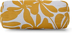 Majestic Home Goods Yellow Plantation Indoor / Outdoor Round Bolster Pillow 18.5