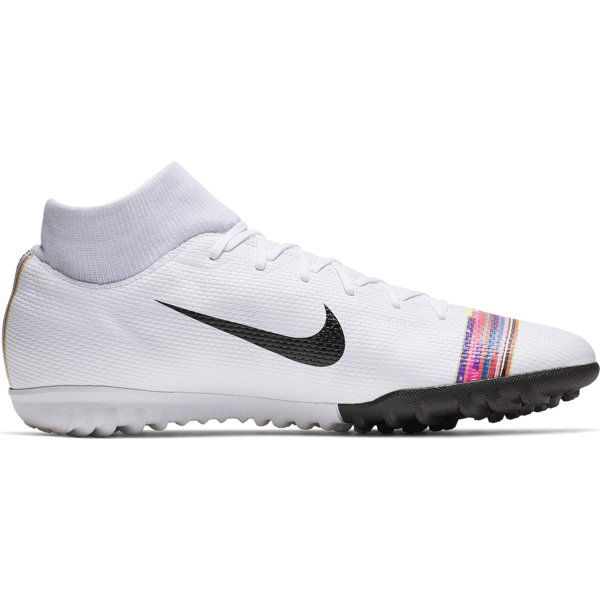 Nike Men's CR7 SuperflyX 6 Academy Turf Soccer Shoe White/Black/Pure Platinum Size 10.5 M US by Nike