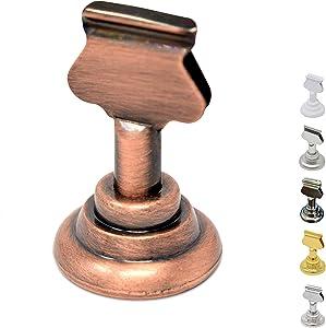 Gray Bunny Place Card Holder, 12 Pack Antique Copper, Table Cardholder Tabletop Menu Holder Bronze Harp-Clip Number Recipe Holder Reserved Card Holder, for Restaurants Rustic Weddings Banquets