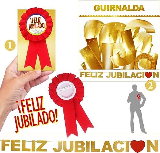 Inedit Festa - Feliz Jubilado Escarapela Roja Honorífica y ...
