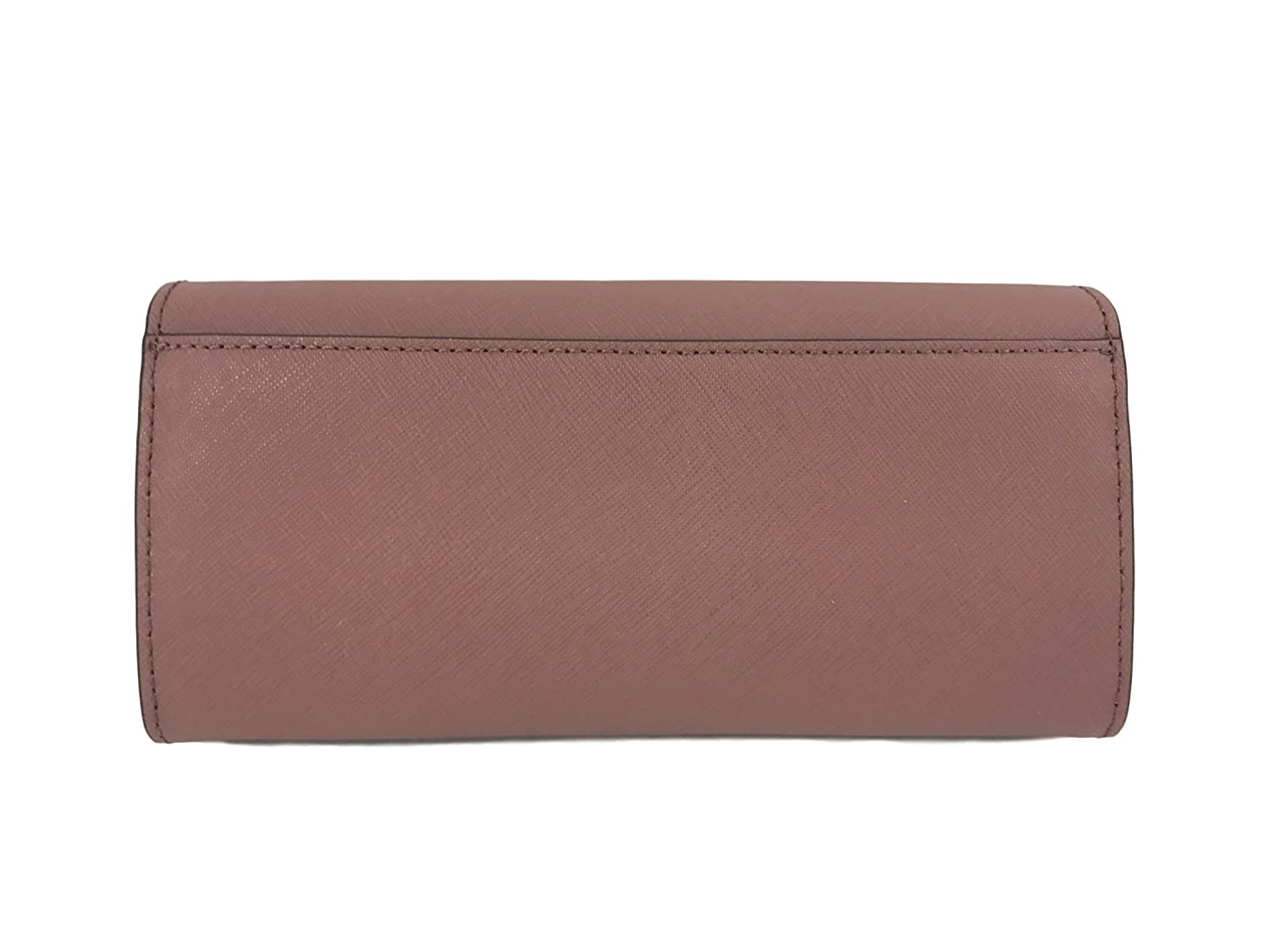 59f4c2370bf4 Amazon.com  Michael Kors Jet Set travel Carryall Leather Clutch wallet in  Dusty Rose  Clothing