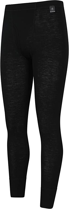 Mountain Warehouse Mens Merino Thermal Base Layer Trousers Lightweight with Fly