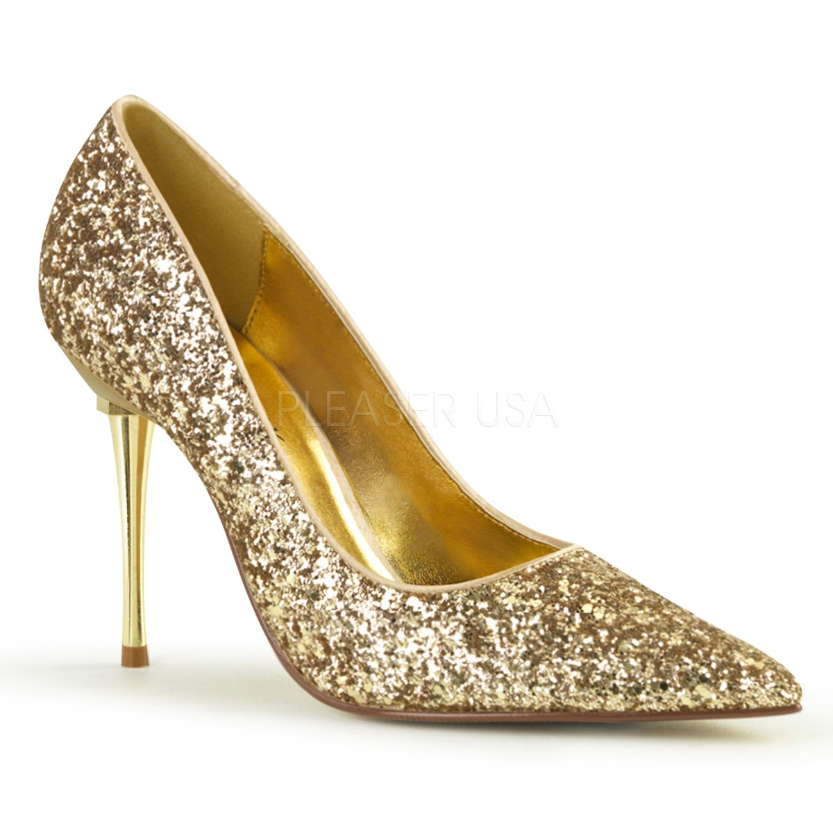 Pleaser , Damen Pumps Mehrfarbig Gold GLTR Pu