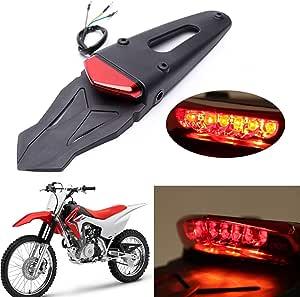 Durable Motorcycle Rear Fender LED Brake Tail Light+Bracket Motocross Bike Lamps