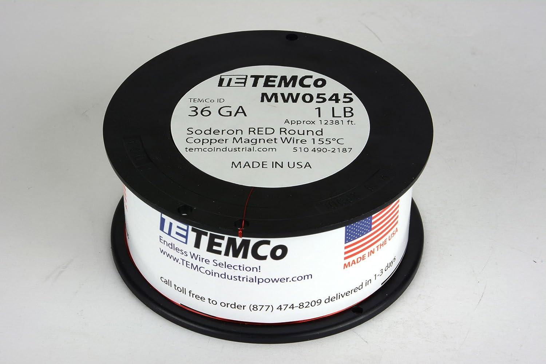 Temco 10 bis 45 AWG Kupfer Magnet Draht Coil Magnetverschluss – 155 ...