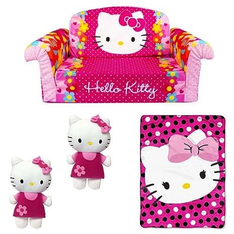 hello kitty bedroom furniture. Hello Kitty Bedroom Furniture, Soft Blanket \u0026 Pillow Set Of 2, Marshmallow Furniture Flip