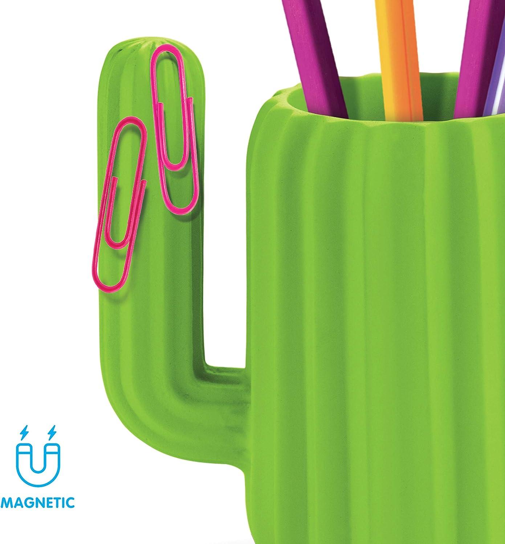 Wei/ß Timess Kaktus Schreibtisch Organizer Stifthalter Schreibtisch PE Vase Innenausstattung Topfpflanzen Kreativer Stifthalter Schreibtisch Organizer f/ür Stifte Pinsel Schreibwaren B/üro