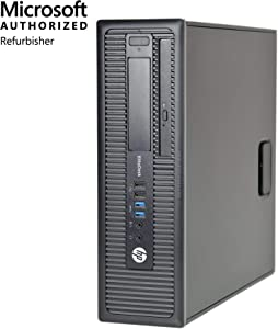 HP EliteDesk 800 G1 SFF Desktop,Intel i5,16GB RAM,256GB SSD,Win10 Pro(Renewed)