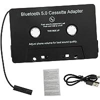 gazechimp Cassete para Aux Adaptador Bluetooth com Built-in Bateria Sem Fio Fita Cassete para Aux Adaptador para Carro…