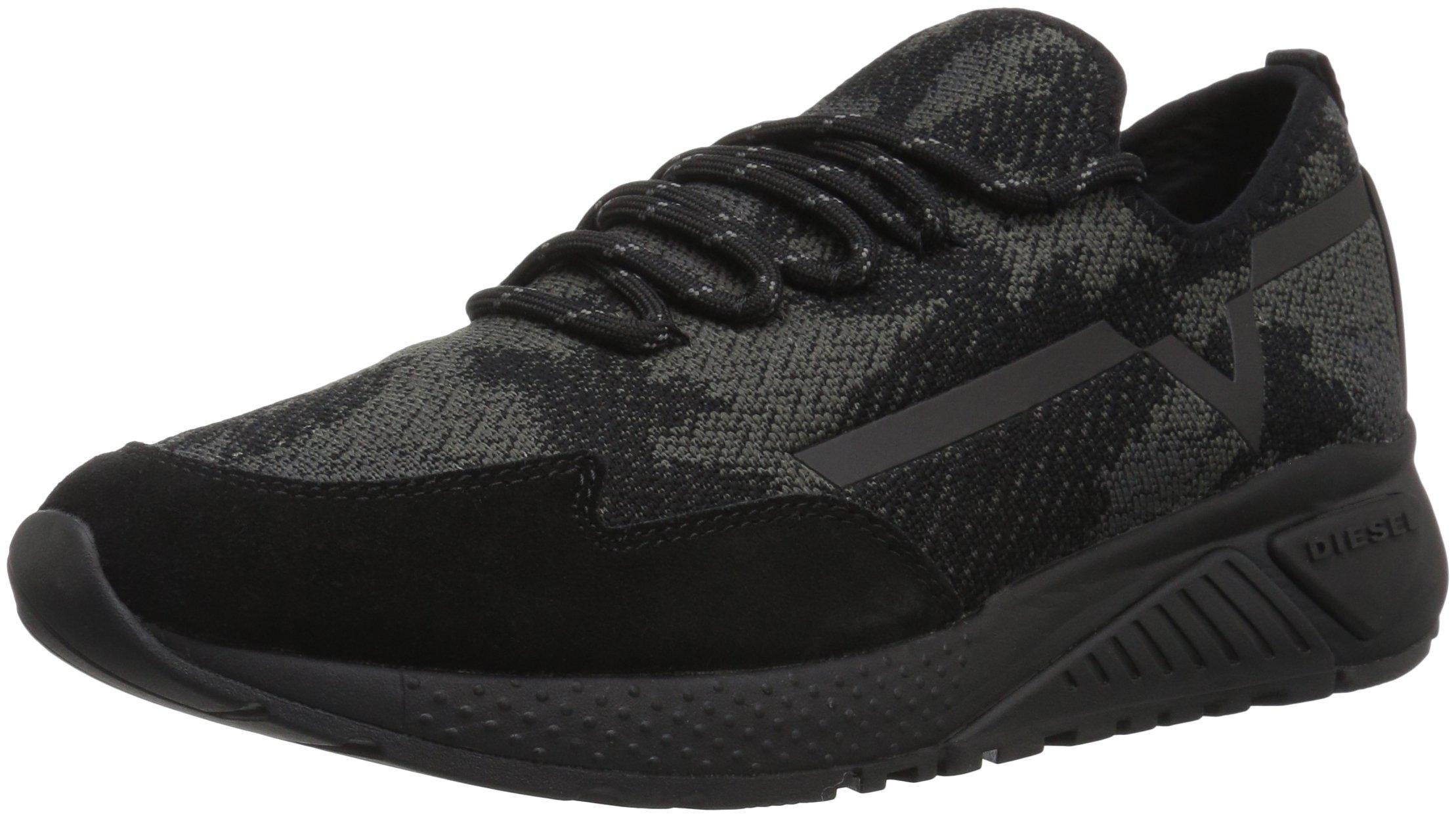 Diesel Men's SKB S-KBY Sneaker, Black, 7.5 M US
