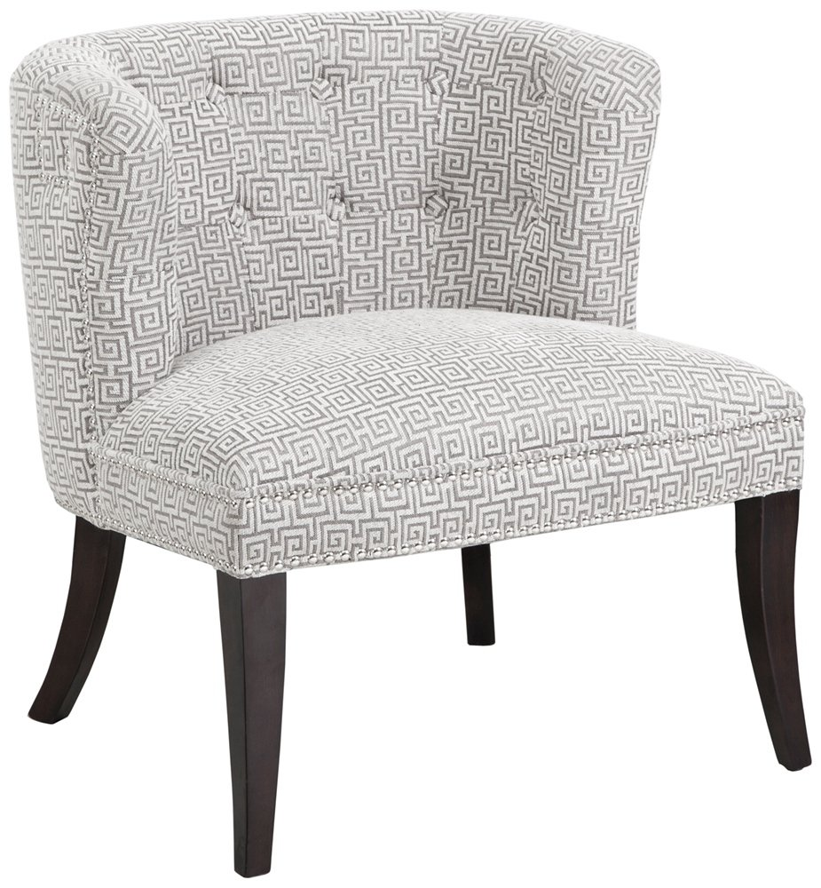Grey Patterned Accent Chair New Decorating