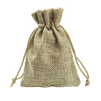 Matrimonio Tema Juta : Lance home sacchetti in tela pz sacchetto rustici juta