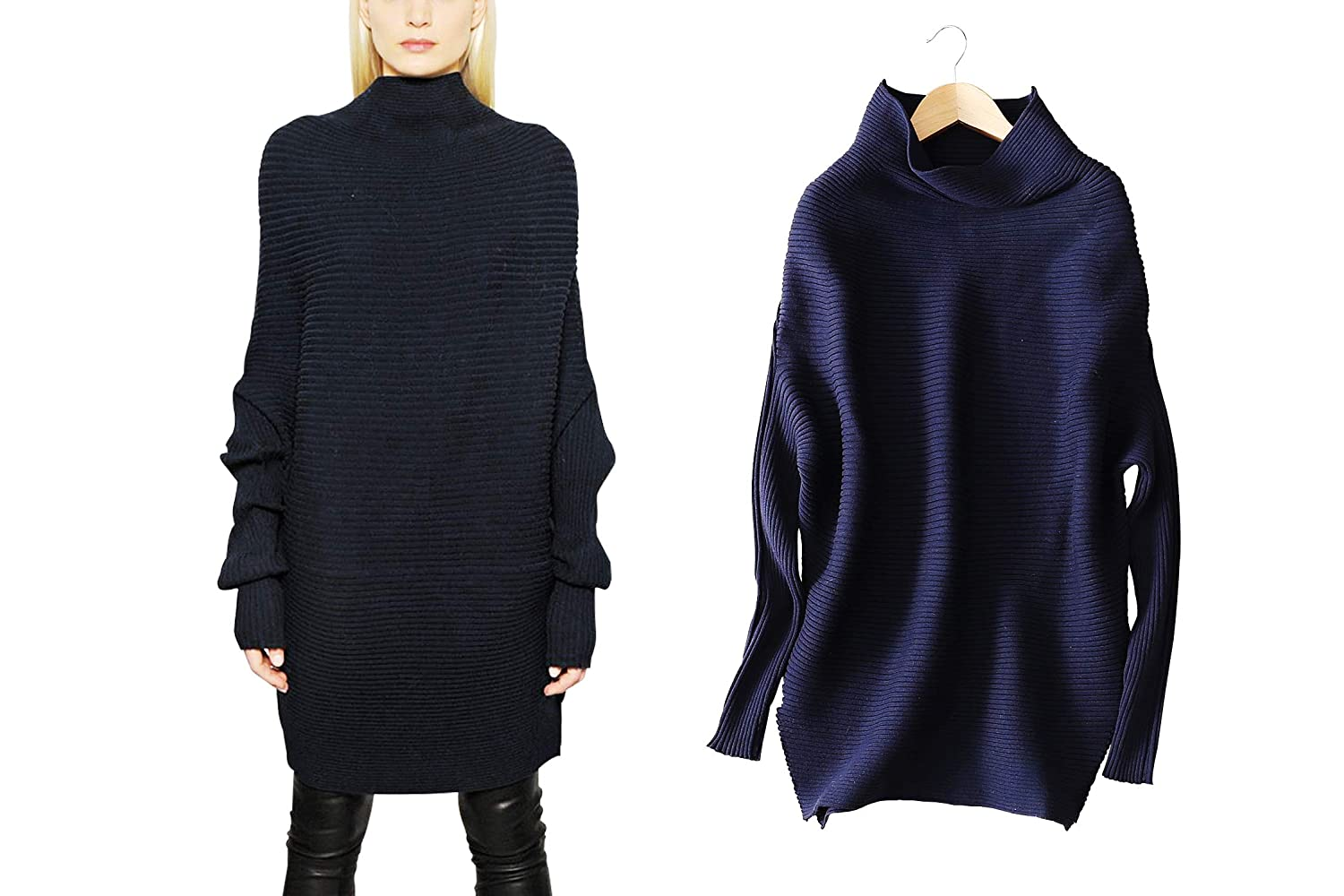 YISHI Fashion Women's Dress Ribbed Tops Loose and Comfortable Long Sleeve Knitting Blouse Fall Winter Sweater F507