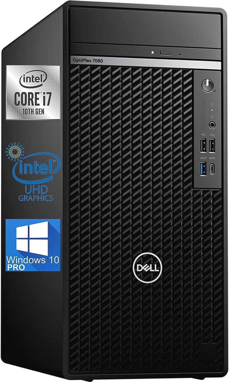 Dell OptiPlex 7080 Mini-Tower Desktop Computer – 10th Gen Intel i7-10700 - 16GB RAM 512GB NVMe SSD, AC Wi-Fi, Bluetooth, DisplayPort, HDMI - Windows 10 Pro