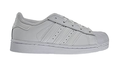 on sale d3a9d ff721 Image Unavailable. Image not available for. Color  Adidas Superstar  Foundation C Little Kids Shoes Running White Running ...