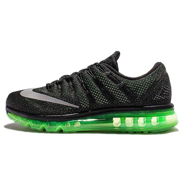 pretty nice 7587d ff8b9 Amazon.com   Nike Air Max 2016 Men s Running Shoe (7, Black Reflective  Silver Voltage Green)   Road Running