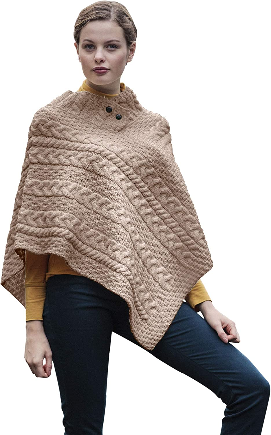 Natural Wool Wrap Carraig Donn Traditional Irish Shawl One Size Fits All